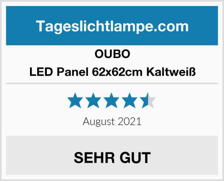 OUBO LED Panel 62x62cm Kaltweiß Test