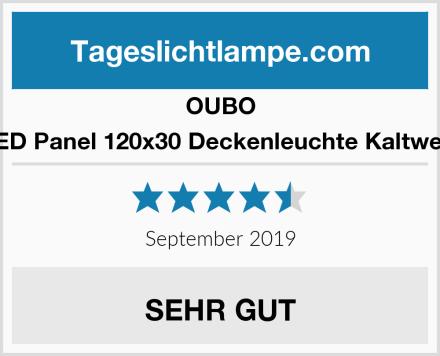 OUBO LED Panel 120x30 Deckenleuchte Kaltweiß Test