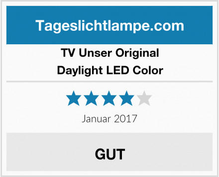 TV Unser Original Daylight LED Color Test