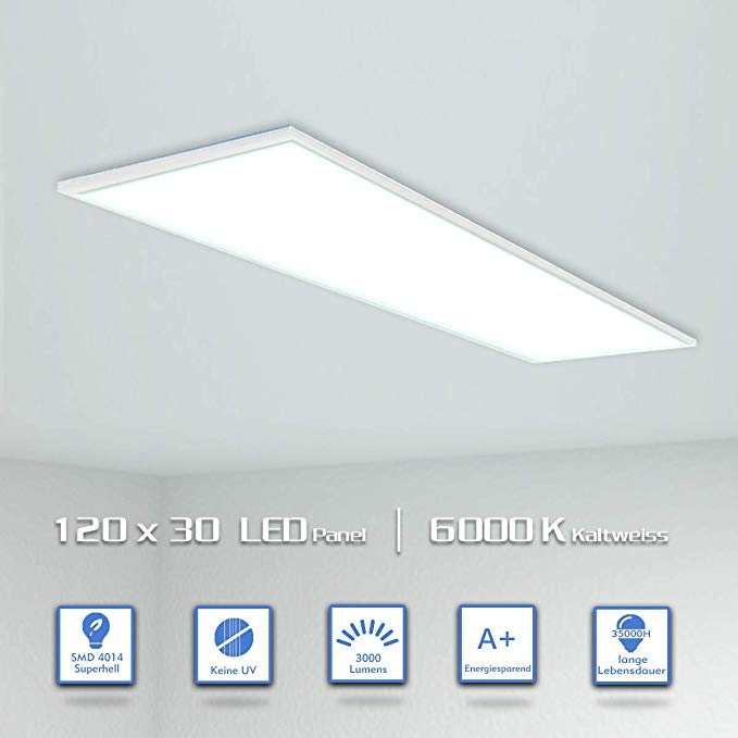 OUBO LED Panel 120x30 Deckenleuchte Kaltweiß