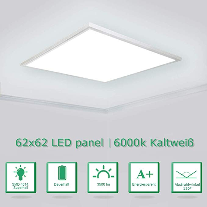 OUBO LED Panel 62x62cm Kaltweiß